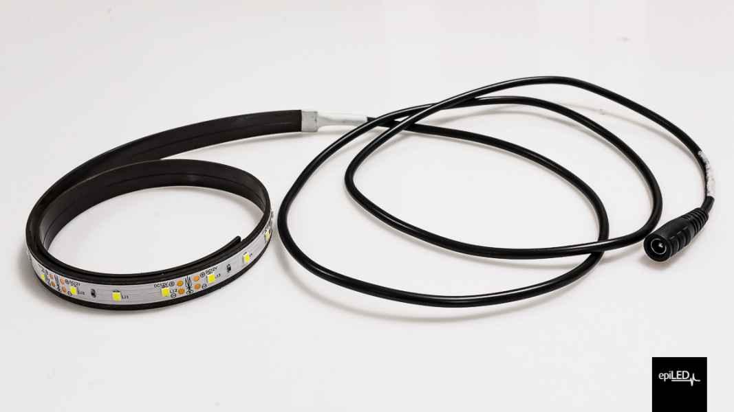 Taśma LED na pasku magnetycznym + przewód z konektorem